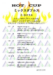 HOT CUP ミックスダブルス〈C・D〉 @ 柳生園テニスクラブ【本校】