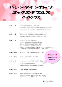 バレンタインカップ ミックスダブルス〈C・D〉 @ 柳生園テニスクラブ【倉益校】