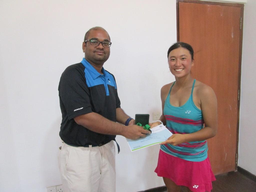 ITFシングルス 初優勝(スリランカ)