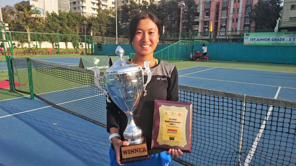 ITF(インド)シングルス初優勝